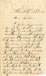 Alvah Marsh Letter: February 22, 1863
