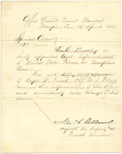 Bradley Letter: April 26, 1863