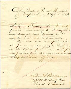 Bradley Letter: April 4, 1864