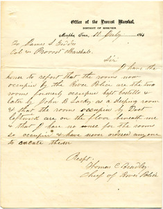 Bradley Letter: July 11, 1864