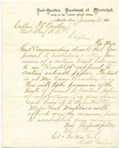 Bradley Letter: January 31, 1865