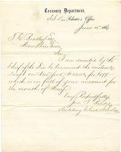 Bradley Letter: June 15, 1866