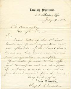Bradley Letter: July 9, 1866