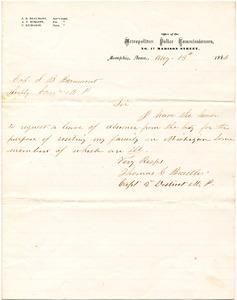 Bradley Letter: August 13, 1866