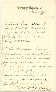 Bradley Letter: May 15, 1866