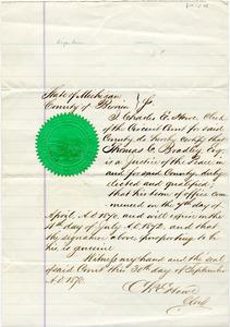 Bradley Letter: September 30, 1870