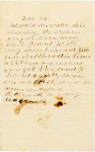 Benjamin B. Brock Letter: no date (February 28, 1863?)