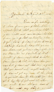 Benjamin B. Brock Letter: April 1, 1862
