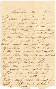 Benjamin B. Brock Letter: November 14, 1862