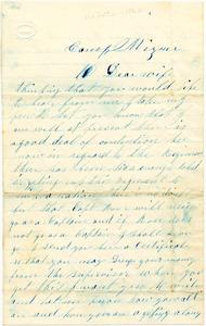 Benjamin B. Brock Letter: no date (sometime between winter-fall, 1862)