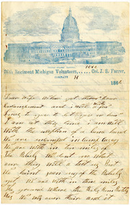 Benjamin B. Brock Letter: December 1862 (Camp Casey)