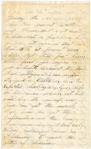Benjamin B. Brock Letter: January 16, 1863
