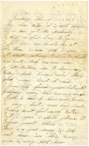Benjamin B. Brock Letter: January 21, 1863