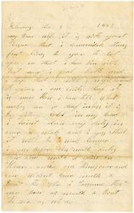 Benjamin B. Brock Letter: February 3, 1863