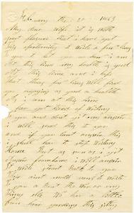 Benjamin B. Brock Letter: February 20, 1863