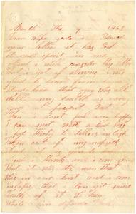 Benjamin B. Brock Letter: March 9, 1863