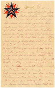 Benjamin B. Brock Letter: March 24, 1863