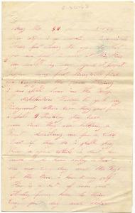 Benjamin B. Brock Letter: May 30, 1863
