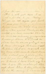 Benjamin B. Brock Letter: June 25, 1863