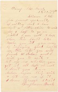 Benjamin B. Brock Letter: no date