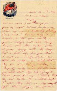 Benjamin B. Brock Letter: March 8, 1864