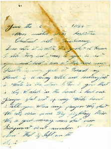 Benjamin B. Brock Letter: June 6, 1864