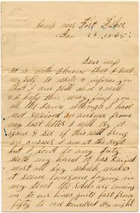 Benjamin B. Brock Letter: January 23, 1865