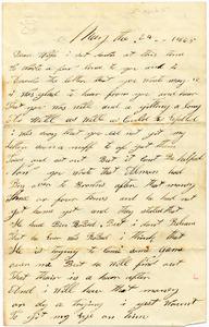 Benjamin B. Brock Letter: May 24, 1865