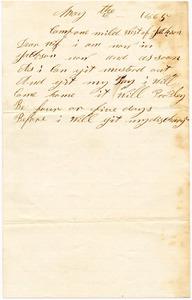 Benjamin B. Brock Letter: May 8, 1865