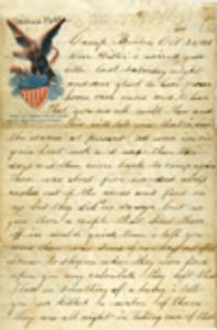 Roger Noble Letter - October 28, 1861