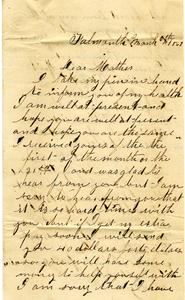 Alvah Marsh Letter: March 6, 1863