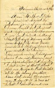 Alvah Marsh Letter: March 20, 1863