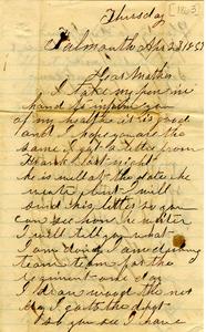 Alvah Marsh Letter: April 28, 1863