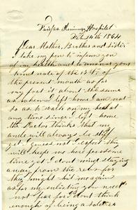 Alvah Marsh Letter: February 24, 1864
