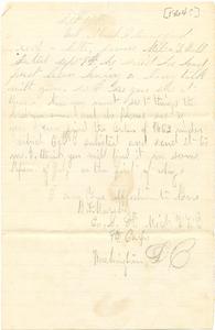 Alvah Marsh Letter: September 15, 1864