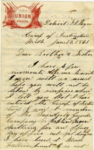 G B Surdam Letter: June 27 1861