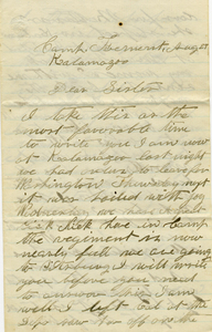 G B Surdam Letter: August 27 1862