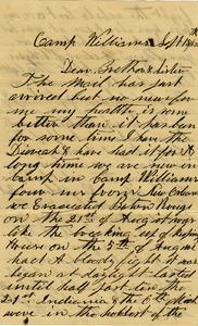 G B Surdam Letter: September 15 1862