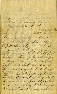 Arnold Letter: February 9, 1863