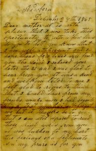 Arnold Letter: December 28, 1865