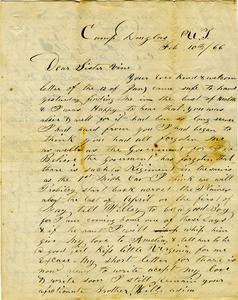 Arnold Letter: February 10-11, 1866