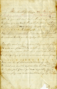 Arnold Letter: Bully Boys of Michigan Song [no date]