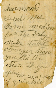 Arnold Letter: Note about Medicine for the Baby