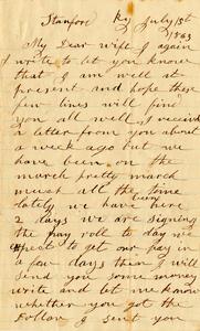 Jesse Taft Letter: July 1, 1863