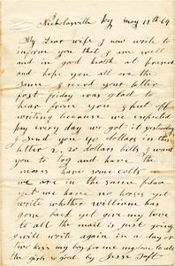 Jesse Taft Letter: May 12, 1864