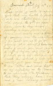 Jesse Taft Letter: July 12, 1864