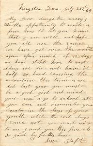 Jesse Taft Letter: July 21, 1864