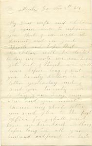 Jesse Taft Letter: November 8, 1864
