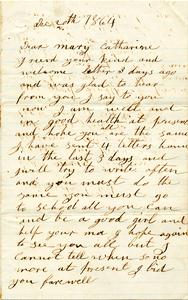 Jesse Taft Letter: December 20, 1864