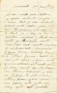 Jesse Taft Letter: January 17, 1865